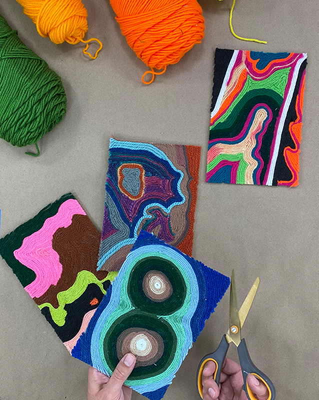 Craft at Home - Yarn Painting