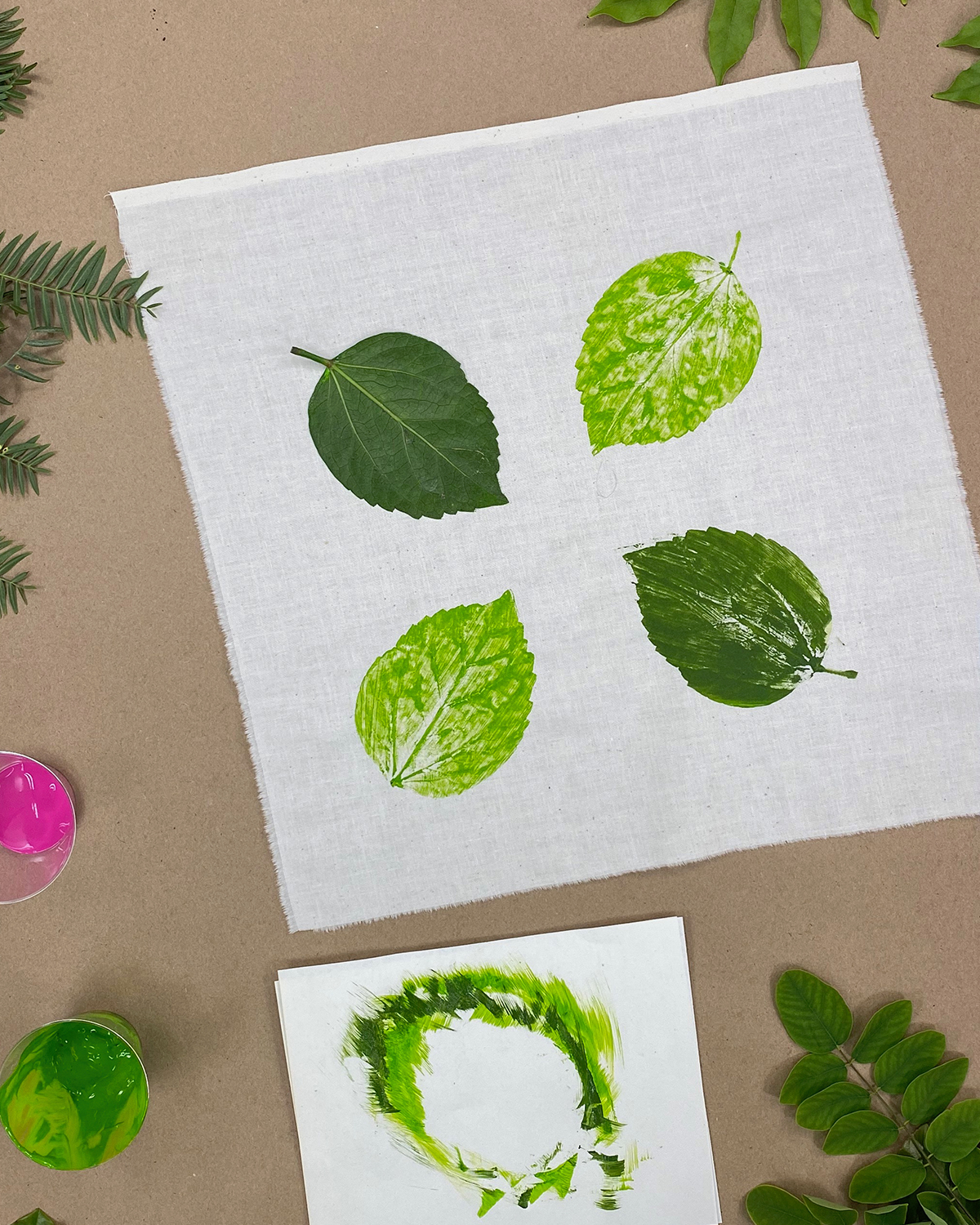 Craft at Home - Printing with Leaves