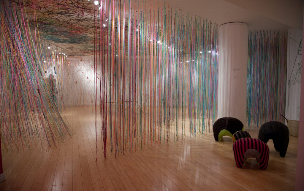 Crossing the Line A Space by Tanya Aguiñiga, installation view, 2011.